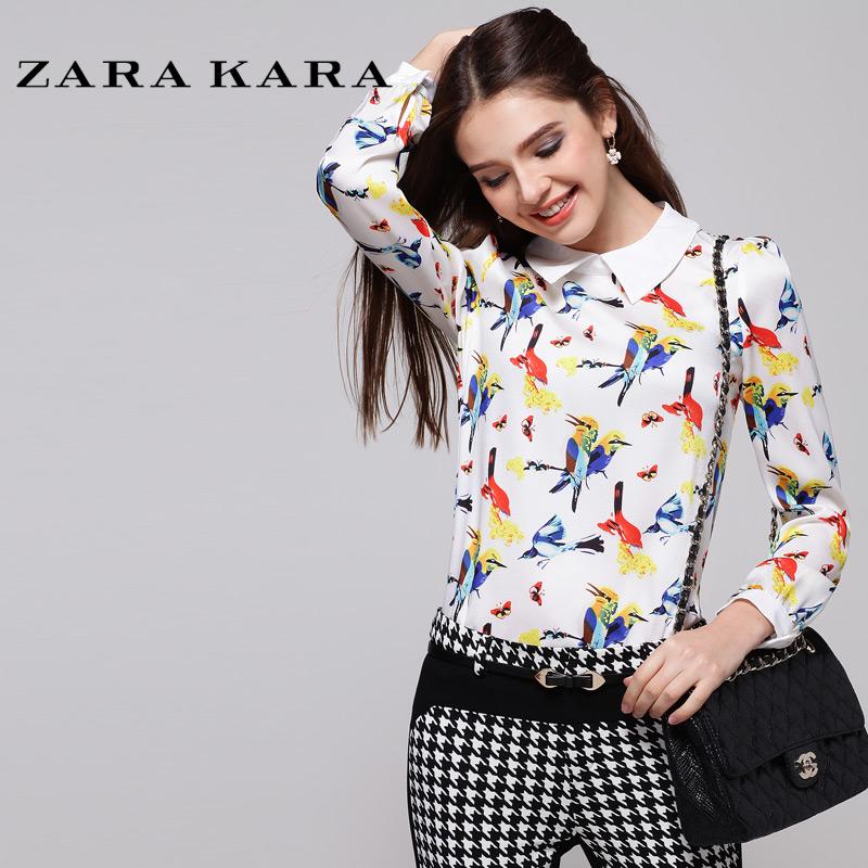 женская рубашка Zara kara 2014
