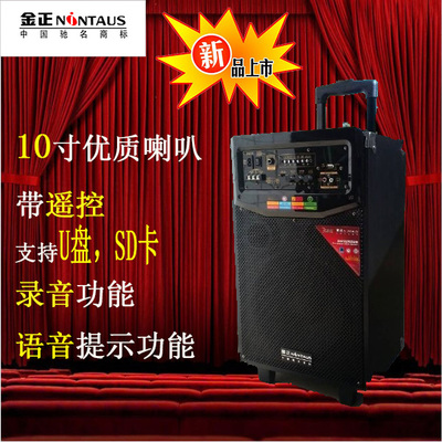 Kim N969 10-inch outdoor speaker battery mobile power rod Square Dance Concert Audio Conference