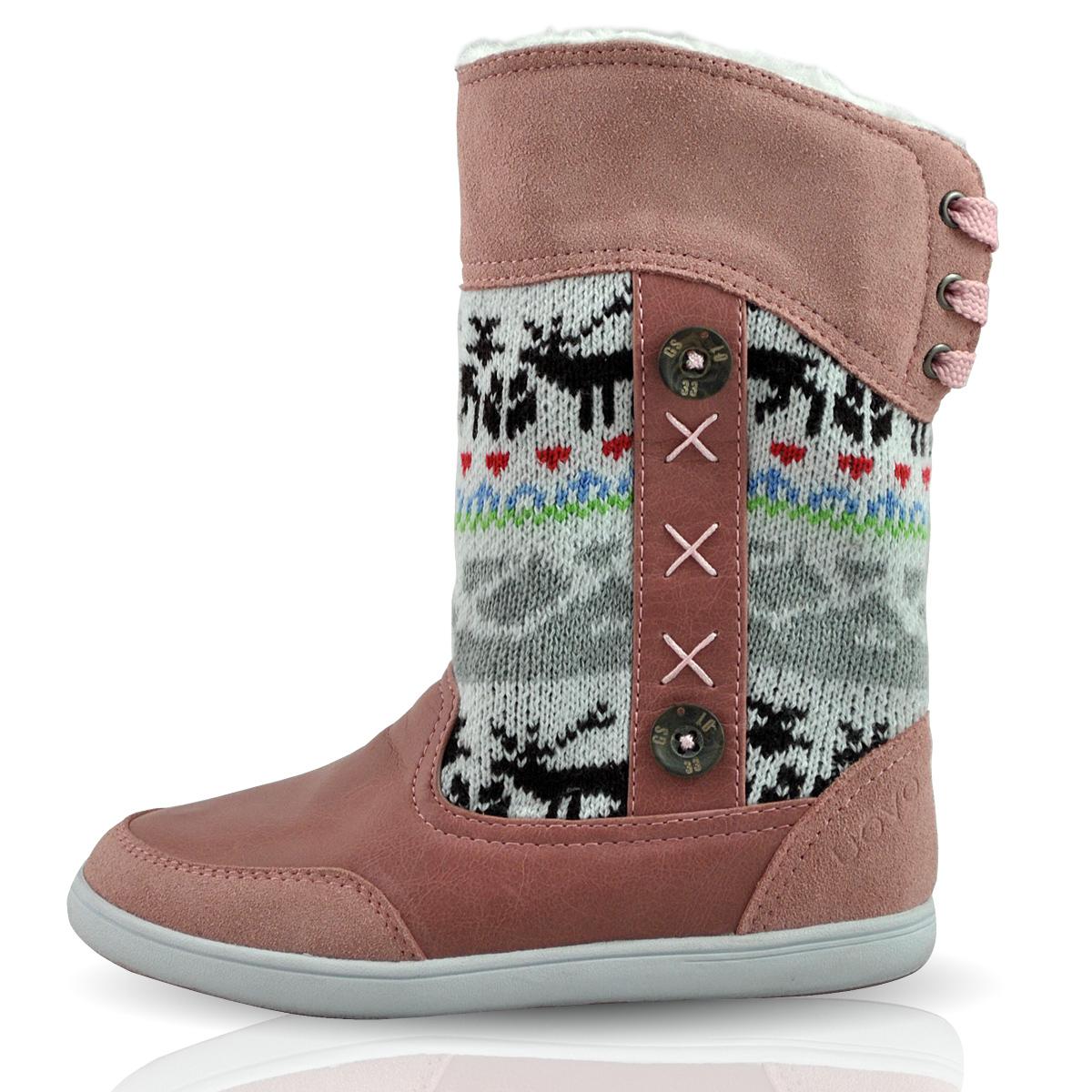 2012秋冬新款真皮 女童中筒雪地靴 毛绒儿童靴子驯鹿 包邮