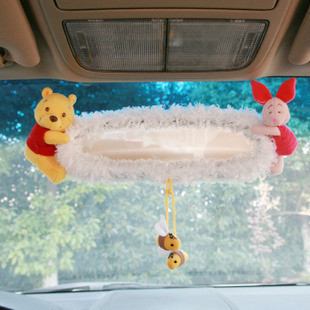 Genuine NAPOLEX Disney Pooh car endoscopic accessories automotive rearview mirror cover PH-110