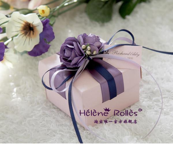 喜糖盒子 结婚 欧式 紫色 创意 婚庆用品 喜糖盒  糖果盒