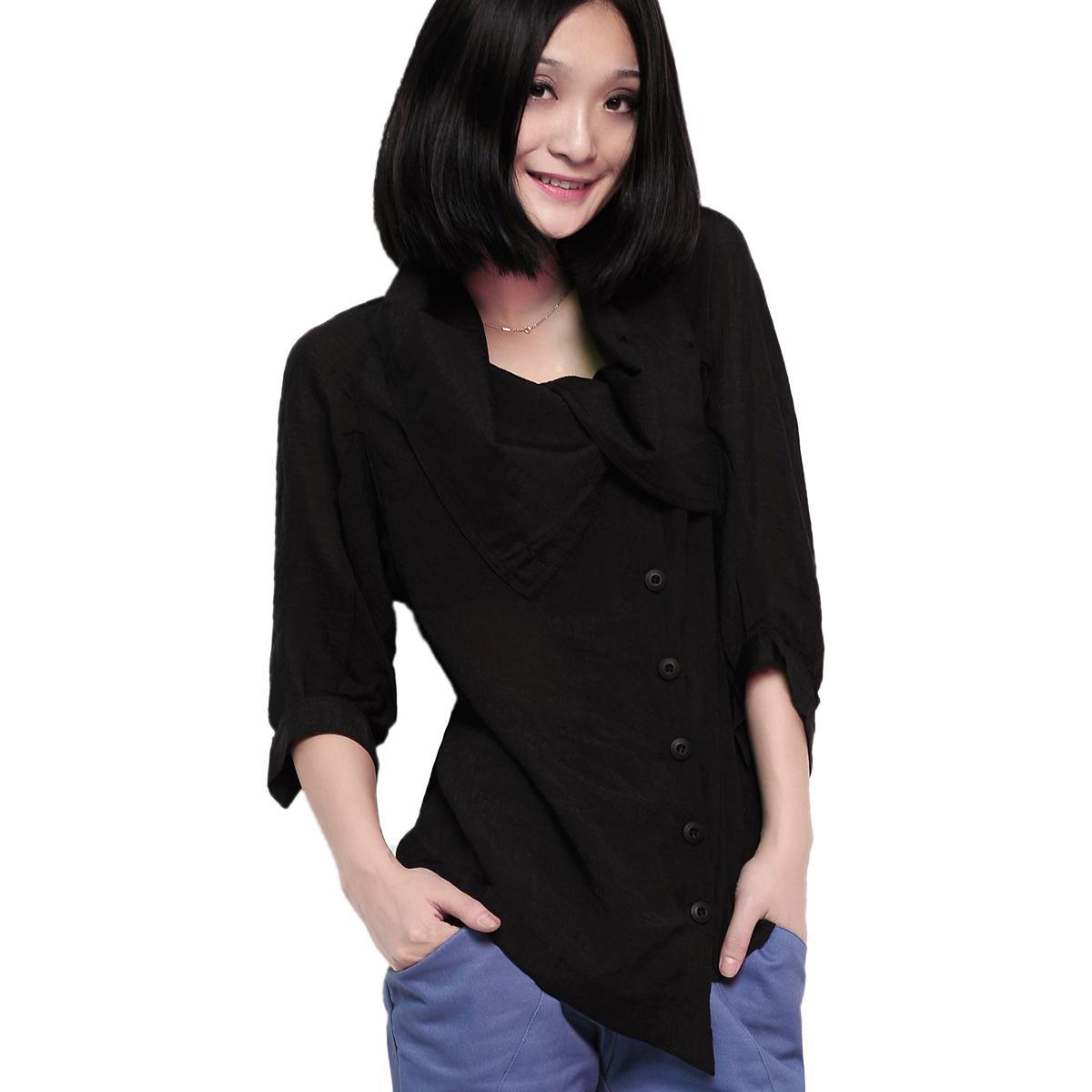 женская рубашка Vicki Mina s2093 Повседневный Однотонный цвет