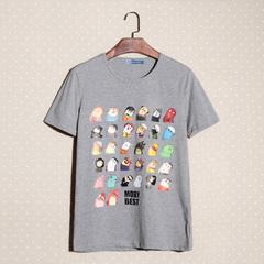 2014夏装新款男装卡通歪脖子印花男士短袖T恤 3025 F35