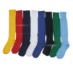 Shop fashion comfortable posting solid Football Socks long tube widening anti-sliding sport socks stockings blue