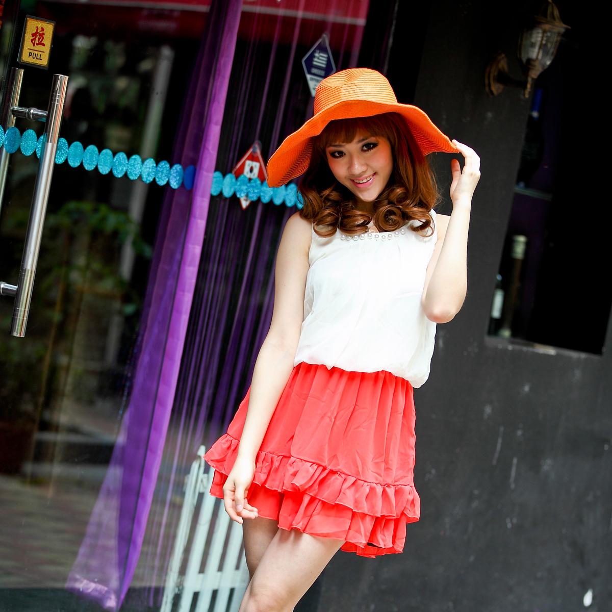 Женское платье Лето 2012 Шифон