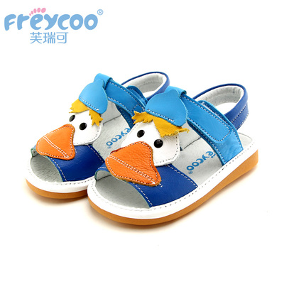 2014Freycoo Winfrey new boys and girls can be comfortable leather sandals toddler shoes slip outdoor 6170