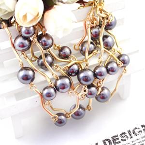 莎米尼饰品 浪漫墨尔本 珍珠手链女 欧美潮流镀金多层时尚奢华