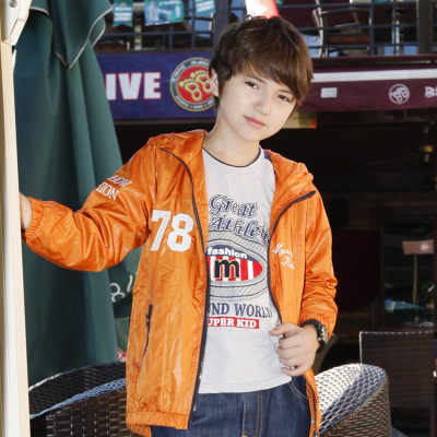 Kids show Qiuqiu Mai 2014 new Korean boy children casual fashion thin coat jacket 1015