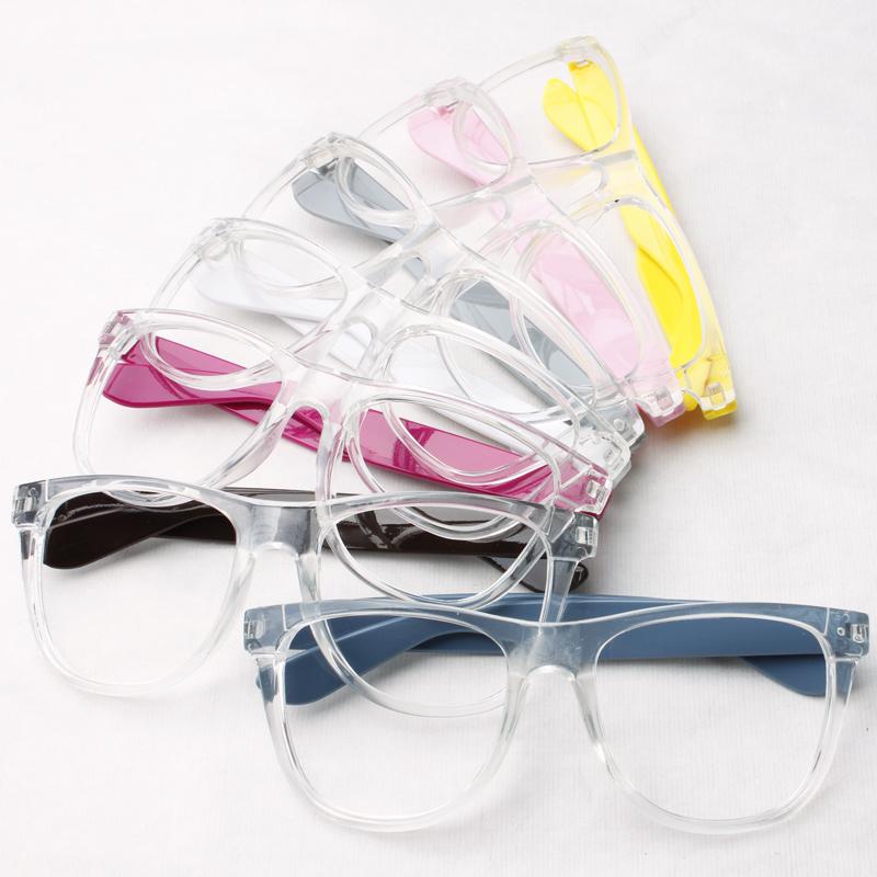 Transparent crystal -framed glasses frame glasses frame white frame ...