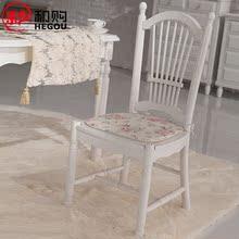和购 田园餐椅白色电脑椅靠背椅书房椅实木椅子 欧式餐椅简约7181图片