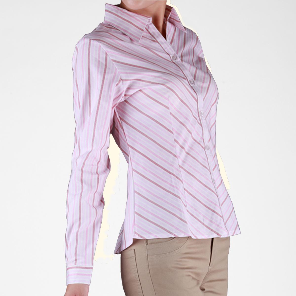 женская рубашка Other 0800/8 C0800-8 OL Casual Длинный рукав В полоску