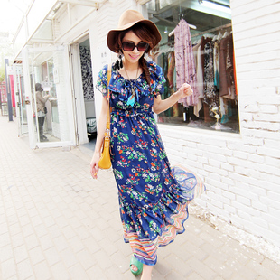 New exclusive first 2012 Europe and themselves in  Bohemian dress suihua chiffon dress set of two WQ1441