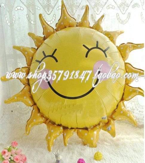 Воздушный шар Новый красный шар фольги анаграмма лицо улыбается Sun Ultra-kawaii!