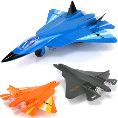 Choi Poeluosi fifth generation fighter T-50 fighter aircraft sound and light alloy pull back toy model