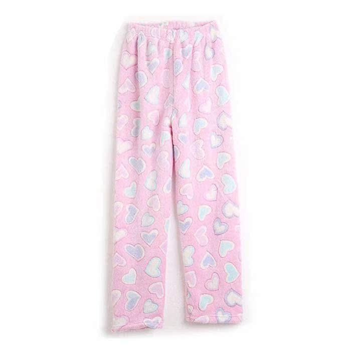 Пижамные штаны Юань Хань подлинной двухсторонний коралловые флис пижамы брюки для мужчин и женщин на дому теплые толстые длинные штаны осень/зима Для пары Фланель Разные