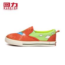 正品回力童鞋男女童春秋季新款儿童涂鸦卡通帆布鞋一脚蹬轻便布鞋图片