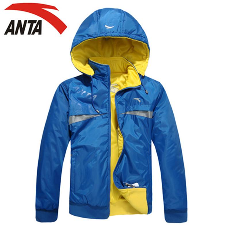Спортивная куртка Anta 2170 2012 Для мужчин Съёмный капюшон Молния Для спорта и отдыха Логотип бренда Удерживающая тепло, Износостойкая, Воздухопроницаемые