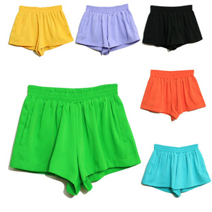 ACM Europe,  original single retro color color loose chiffon high waist shorts/hot pants/bloomers 324