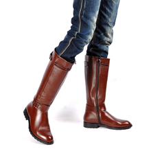 Men's boots honor guard parade han edition high tide men boots boots zipper pointed boots boots