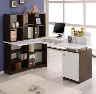 The new Korean combination computer desk corner computer desk desk bookcase simple desktop computer desk can be customized