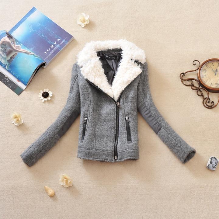 женское пальто 978 2012 PU Зима 2012 Короткая (40 см<длина одежды≤50 см) Длинный рукав Классический рукав