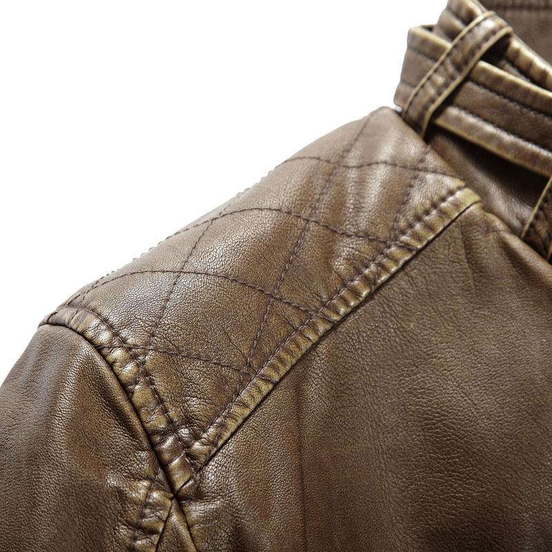 Одежда из кожи 880461 2012 Имитация кожаной одежды Полиуретановый кожезаменитель Воротник-стойка