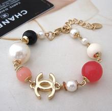2011 Chanel / Chanel contador con el dinero!  Multicolor Pulsera perlas