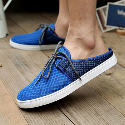 Chen Shi-half dragged men's casual summer fashion breathable shoes trend England men's everyday casual male sandals and slippers