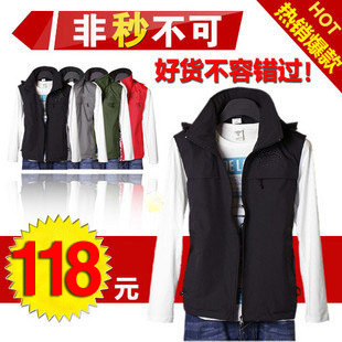 Post-2012 in  spring and autumn  new cashmere warm men's genuine wild waterproof vest fashion men's Sleeveless jacket