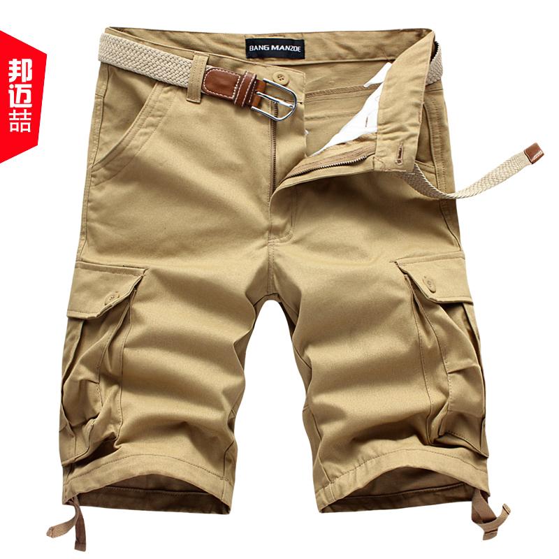 邦迈喆 夏装工装裤休闲裤男士短裤 男 多口袋五分裤中裤沙滩裤子