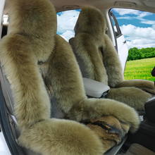 The new car seat cover in winter Pure sits set of abb cloth with soft nap Fur one The Wolf skins general seating package