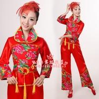 民族服装 开门红秧歌服舞蹈服演出服 女腰鼓舞扇子舞广场舞蹈服装