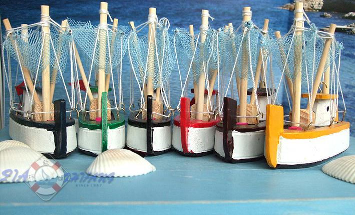 Декоративный корабль Специальные «средиземноморской украшения» морской небольшой рыбацкой лодке оборудование 6 цветов 11/0551