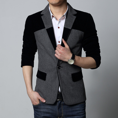 2014 new Korean version of Slim wool suit men's casual suit jacket XL spring models suit then west