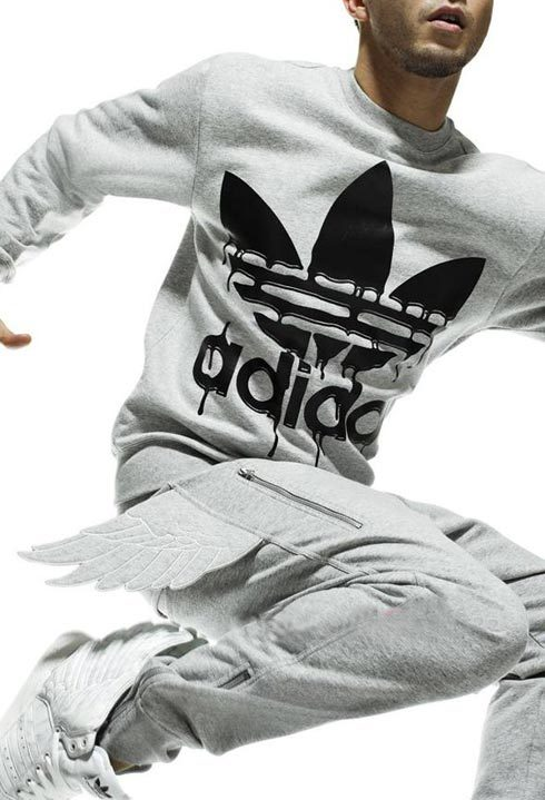 Брюки спортивные Adidas p51323 ObyO JEREMY SCOTT WINGED ZIP UP HOODIE