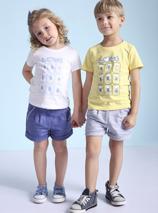 Dream ba Sally/treasure and children's wear tong qu printing leisure T-shirt (children) (051011279)