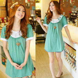 Yi Xiuge maternity dresses Korean summer new cute Green Butterfly women t-shirt S1224