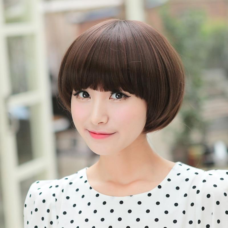 媚女人假发 时尚女短发 短bobo头 蘑菇头 沙宣头 高温丝修脸包邮图片