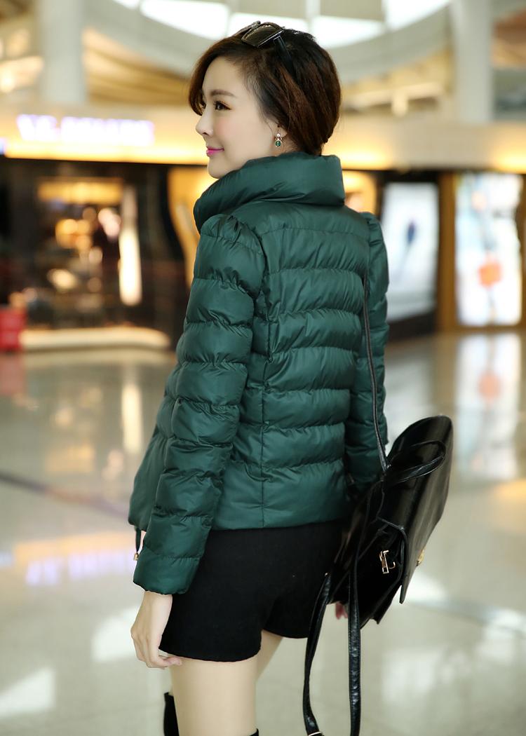 Женская утепленная куртка Зимняя распродажа новой девушки короткие вниз куртка аутентичные полупальто крошечные мигает подраздел женщин короткие куртки пальто