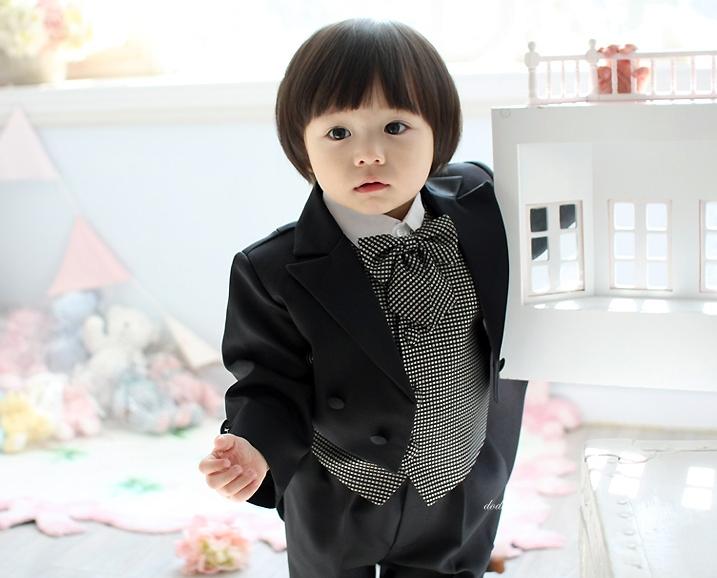 2013儿童春装西装 欧美儿童燕尾服套装 男童5件套花童装 演出服