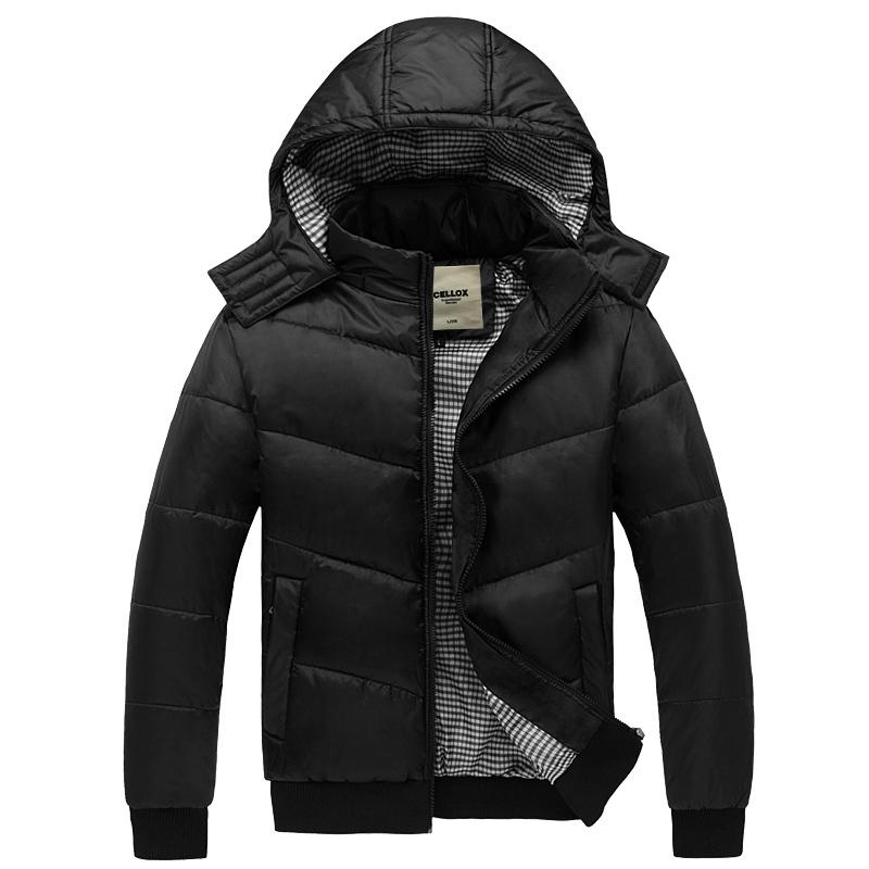 品质 比过卡劳仕在买棉衣 带帽可脱卸外套 短款棉袄保暖冬棉服 男
