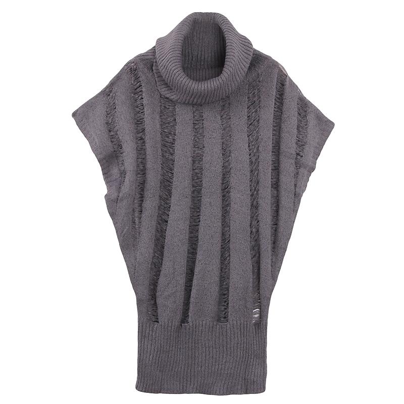 Свитер женский Широкими лацканами вырезать Бат вязаный свитер рукав короткий рукав свитера Акриловое волокно