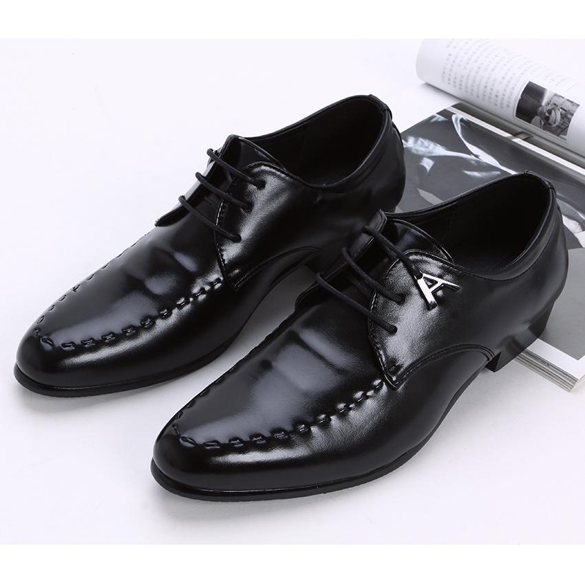 新款韩版英伦男鞋 正装商务休闲皮鞋 发型师内增高鞋 结婚鞋低帮