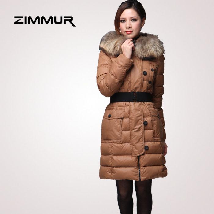 Женский пуховик ZIMMUR z11dgc065t3 Городской стиль Облегающий покрой