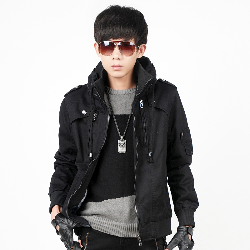 森马版男装2014春装新款潮男士夹克韩版修身立领青少年学生装外套图片