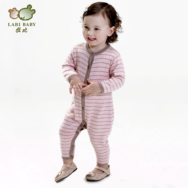 LABI BABY 2014 Jumpsuit Kids cotton clothing Stripe Romper Spring Taobao Agents