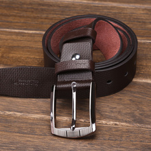 Hams belt for men Leather leisure leather obi male han edition tide fashion pin buckle belts is pure product