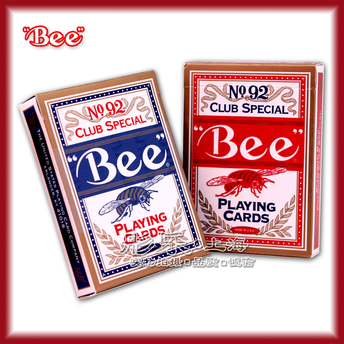 NO.92 Bee bee playing cards Poker United States authentic original