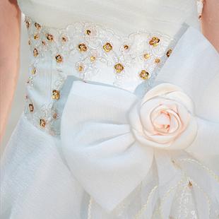 Свадебное платье Bride 890 Плотная ткань Длинный шлейф