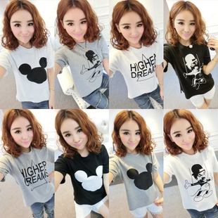 Doll House Korean ladies spring 2014 new cartoon slim Joker short sleeve women's t-shirts at the end of the Y885